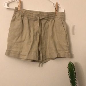 Old Navy Mid Rise Linen Blend Shorts